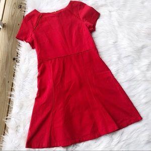J. Crew Mini Short Sleeve Red Shift Dress